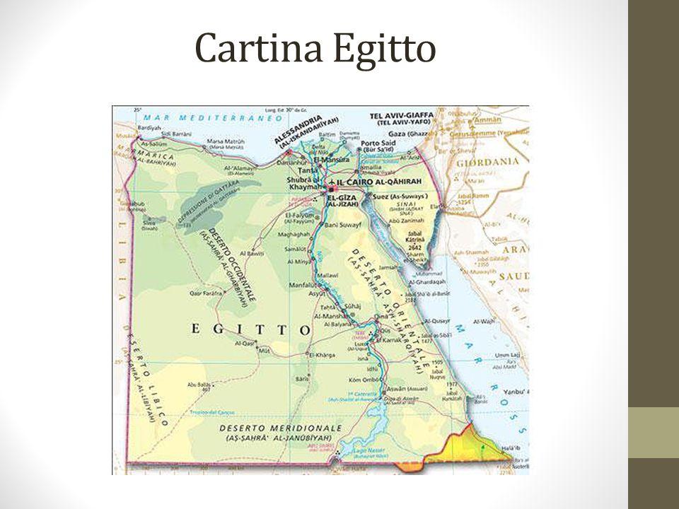 Cartina Egitto
