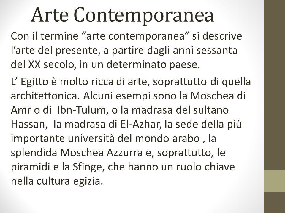 Arte Contemporanea Con il termine arte contemporanea si descrive larte del presente, a partire dagli anni sessanta del XX secolo, in un determinato pa