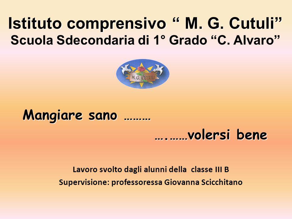 Istituto comprensivo M.G. Cutuli Istituto comprensivo M.