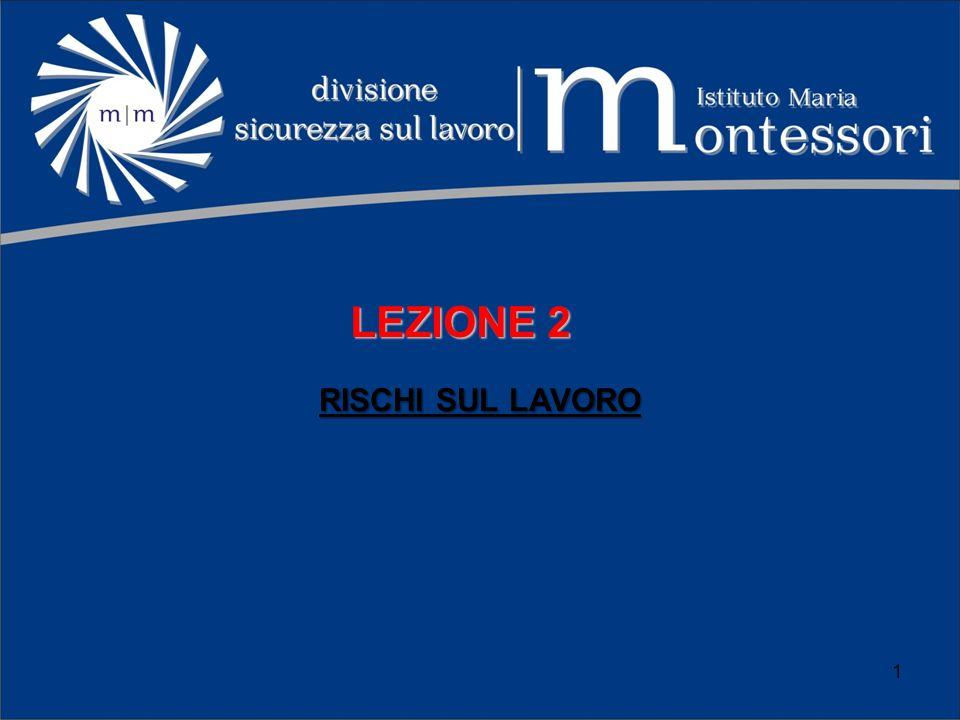 LEZIONE 2 RISCHI SUL LAVORO 1