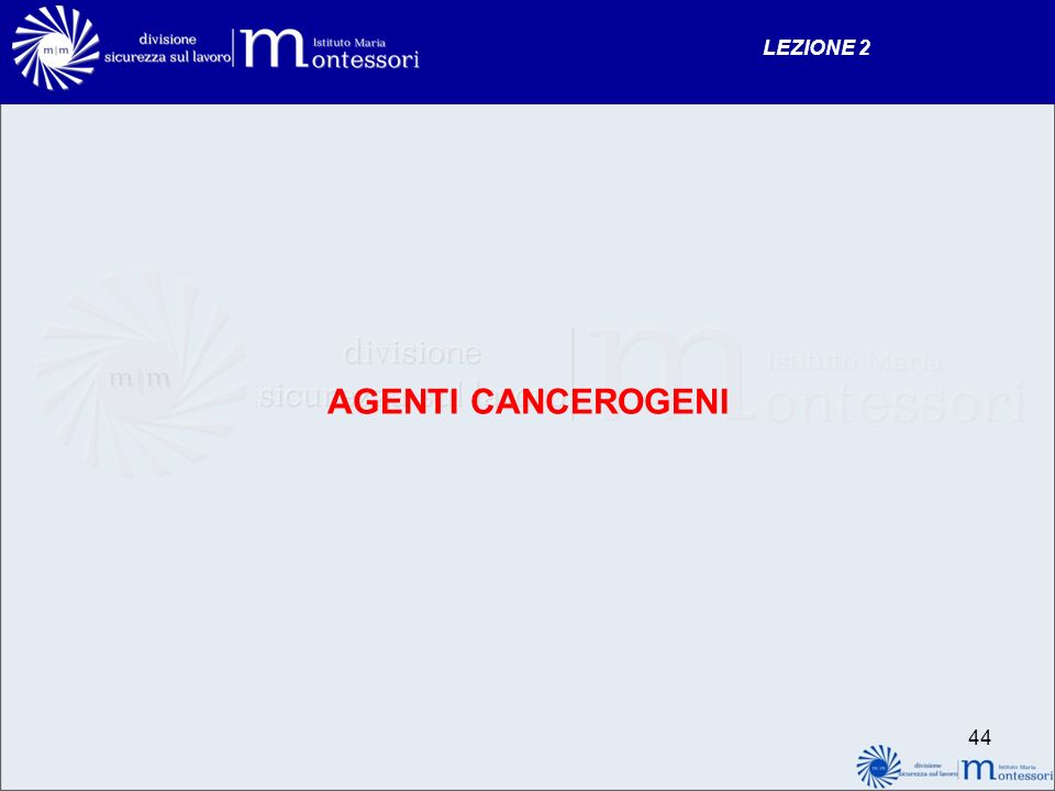 AGENTI CANCEROGENI LEZIONE 2 44