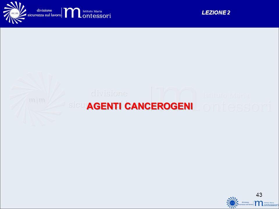 AGENTI CANCEROGENI LEZIONE 2 43