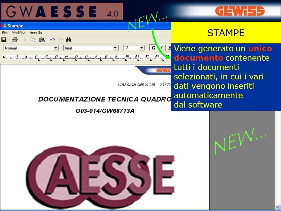 Viene generato un unico documento contenente tutti i documenti selezionati, in cui i vari dati vengono inseriti automaticamente dal software STAMPE NE