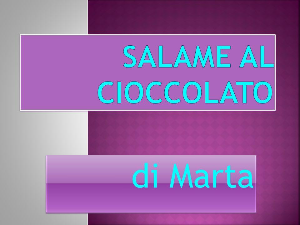 * 300 grammi di biscotti secchi * 200 grammi di cioccolato fondente * 100 grammi di zucchero * 75 grammi di burro * 1 uovo * 4 cucchiai di latte *zucchero a velo