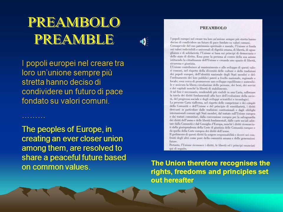 Giorgio Napolitano, Presidente della Repubblica italiana, ha detto: I Trattati europei, le Carte dei principi e dei valori della Comunità e poi dellUn