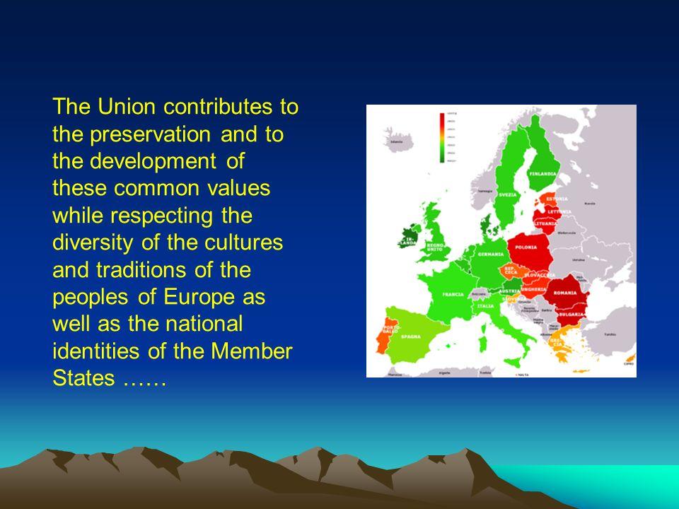 I popoli europei nel creare tra loro ununione sempre più stretta hanno deciso di condividere un futuro di pace fondato su valori comuni. ……… The peopl