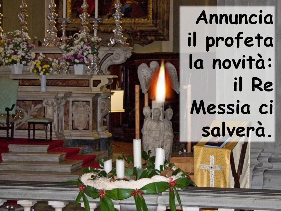 Annuncia il profeta la novità: il Re Messia ci salverà.