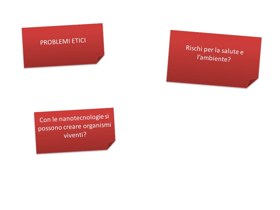 PROBLEMI ETICI Rischi per la salute e lambiente.