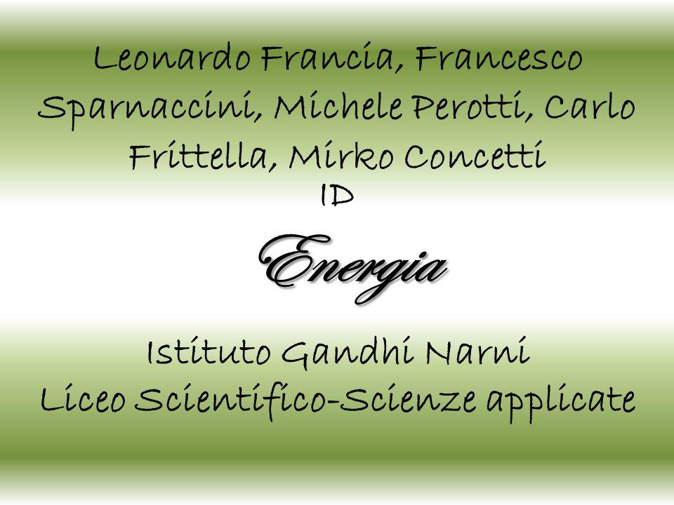 Energia Istituto Gandhi Narni Liceo Scientifico-Scienze applicate Leonardo Francia, Francesco Sparnaccini, Michele Perotti, Carlo Frittella, Mirko Con