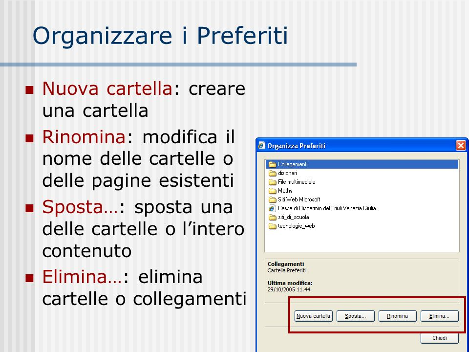 Stampa di pagine web Usare il menu File/Stampa… E possibile impostare la pagina (margini, intestazione, piè di pagine E possibile vederne lanteprima, prima di mandare in stampa