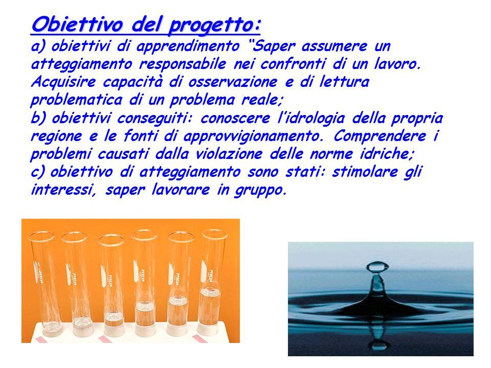 Obiettivo del progetto: Obiettivo del progetto: a) obiettivi di apprendimento Saper assumere un atteggiamento responsabile nei confronti di un lavoro.