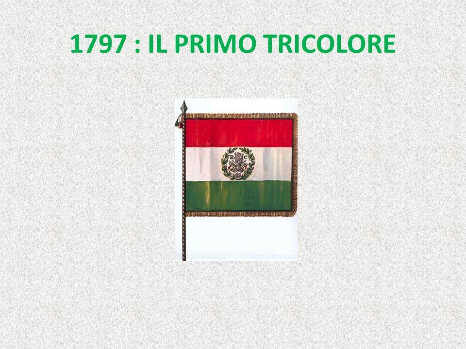STORIA DEL TRICOLORE Il tricolore italiano comparve per la prima volta il 14 novembre 1795 in una manifestazione di studenti a Bologna. Fu il 7 gennai