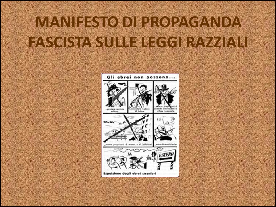 LE LEGGI RAZZIALI IN ITALIA Eccone solo alcune: Espellere gli ebrei dalle scuole (2 settembre 1938) Vietare i matrimoni razzialmente misti, cioè fra e