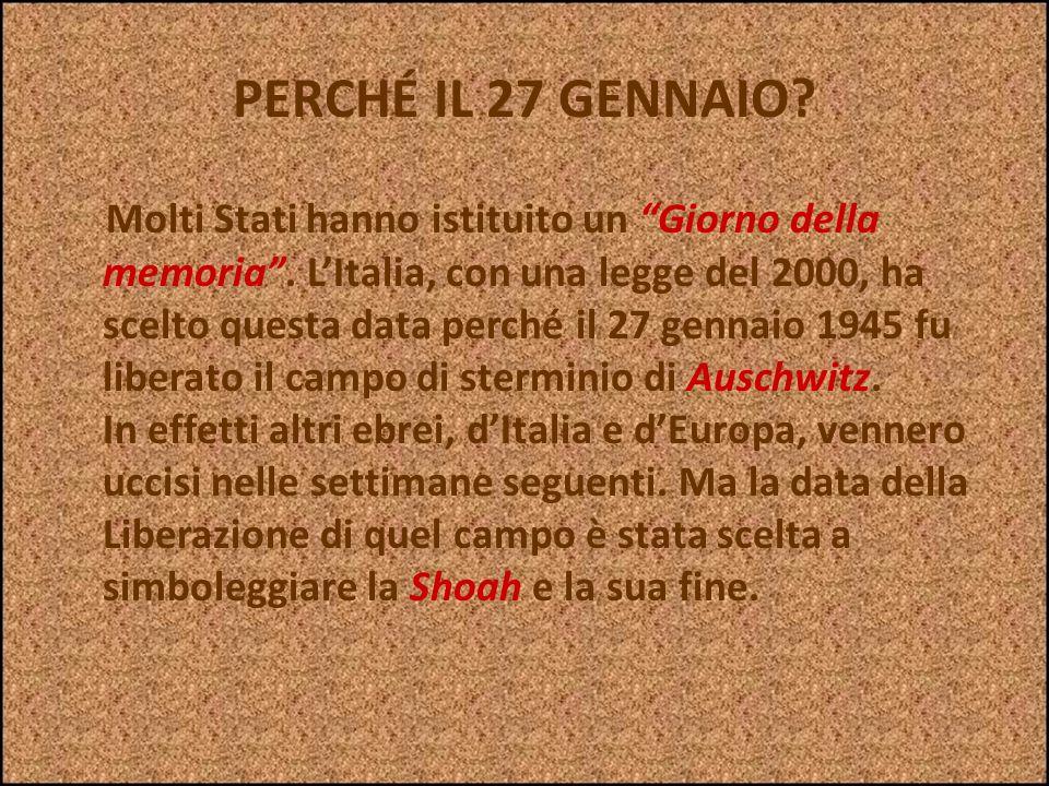 PERCHÉ RICORDARE UNA STORIA TANTO TRISTE? Ad Auschwitz, uno dei più terribili campi di concentramento, è stata trovata una pietra anonima, dove con un