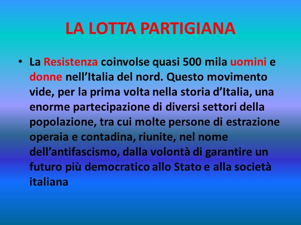 LA LOTTA PARTIGIANA Nell Italia occupata la maggior parte dei giovani non rispose ai bandi di arruolamento emanati dalla Repubblica Sociale, bensì and