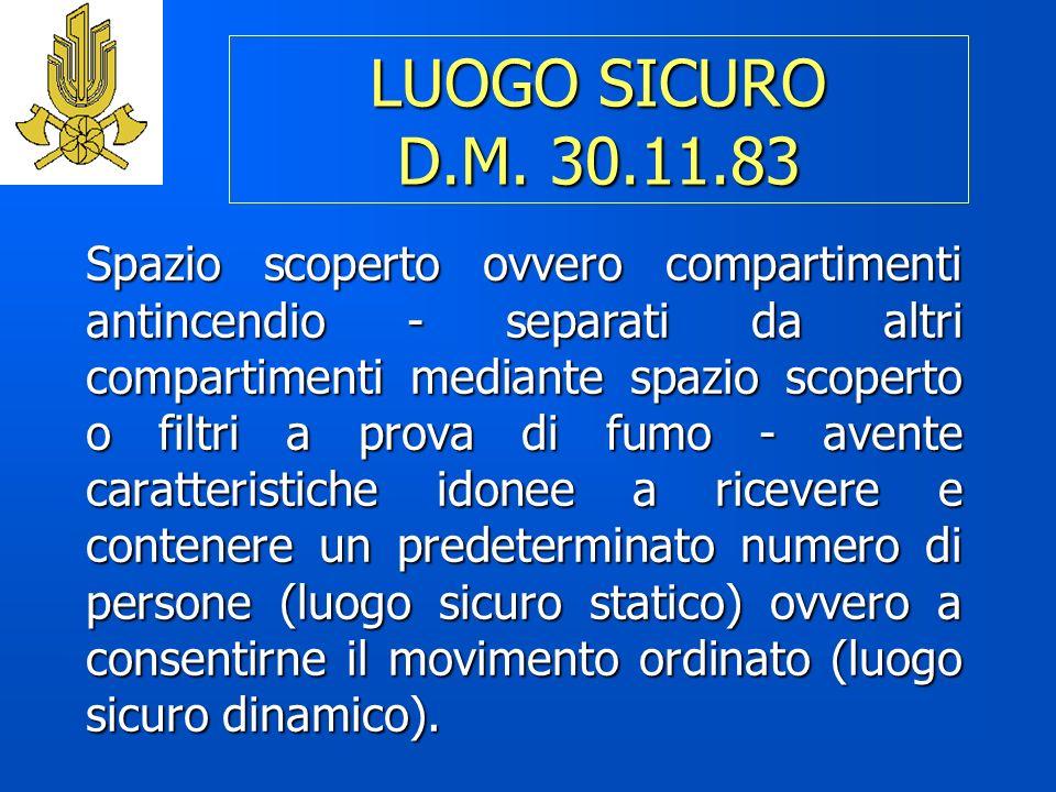 LUOGO SICURO D.M.