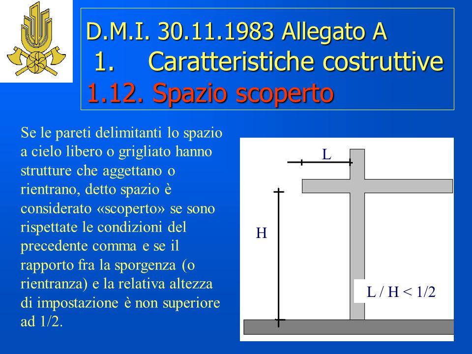 D.M.I.30.11.1983 Allegato A 1. Caratteristiche costruttive 1.12.
