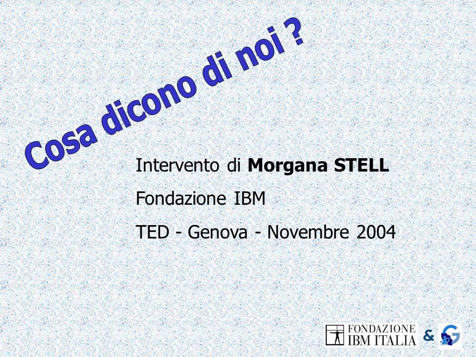 Intervento di Morgana STELL Fondazione IBM TED - Genova - Novembre 2004