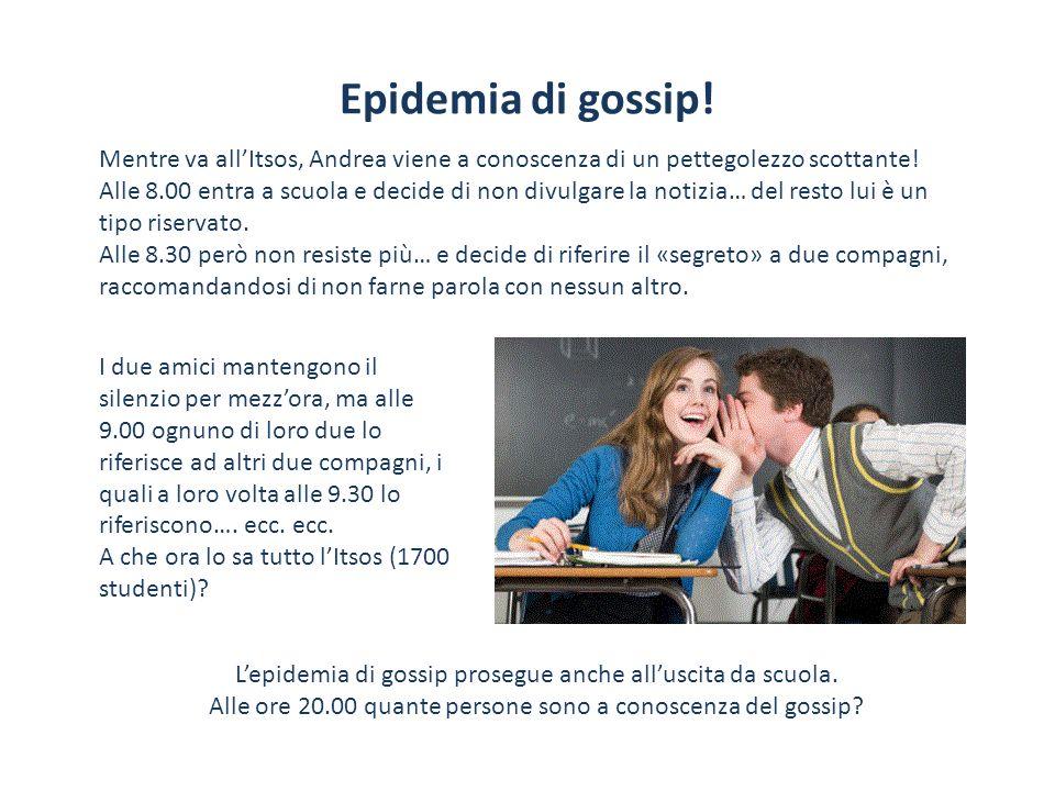 Epidemia di gossip! Mentre va allItsos, Andrea viene a conoscenza di un pettegolezzo scottante! Alle 8.00 entra a scuola e decide di non divulgare la