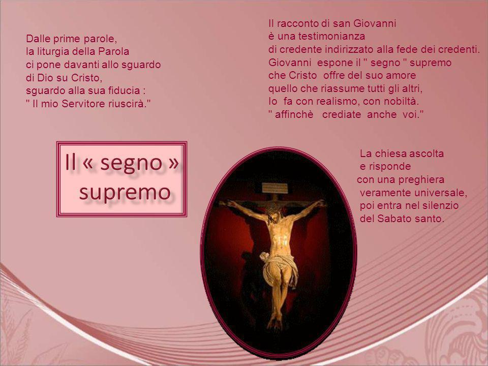 Gesù, il Salvatore Dio simpegna totalmente nella passione di suo Figlio la quale opera interessa tutti noi.