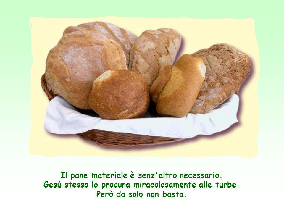 Ora Gesù applicando a se stesso l'immagine del pane, vuol dire che la sua persona, il suo insegnamento sono indispensabili per la vita spirituale dell