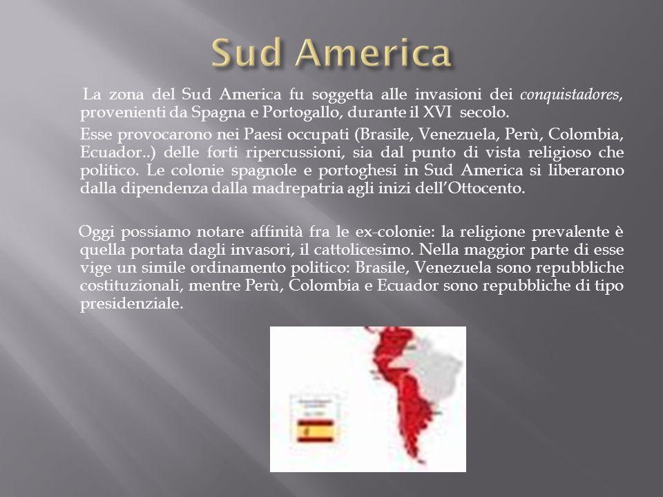 La zona del Sud America fu soggetta alle invasioni dei conquistadores, provenienti da Spagna e Portogallo, durante il XVI secolo. Esse provocarono nei