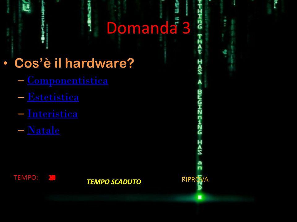 Domanda 4 È PC il nome accorciato per il computer.