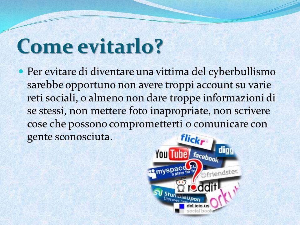 Cosa fare nel caso che tu sia una vittima del cyberbullismo.