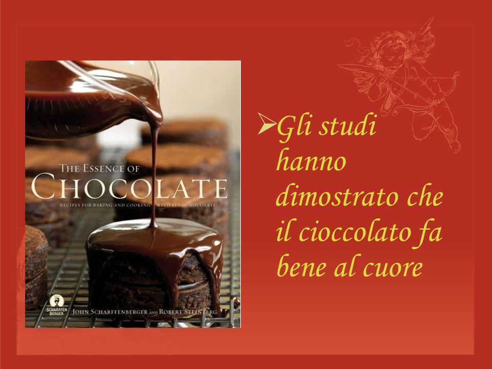Gli studi hanno dimostrato che il cioccolato fa bene al cuore
