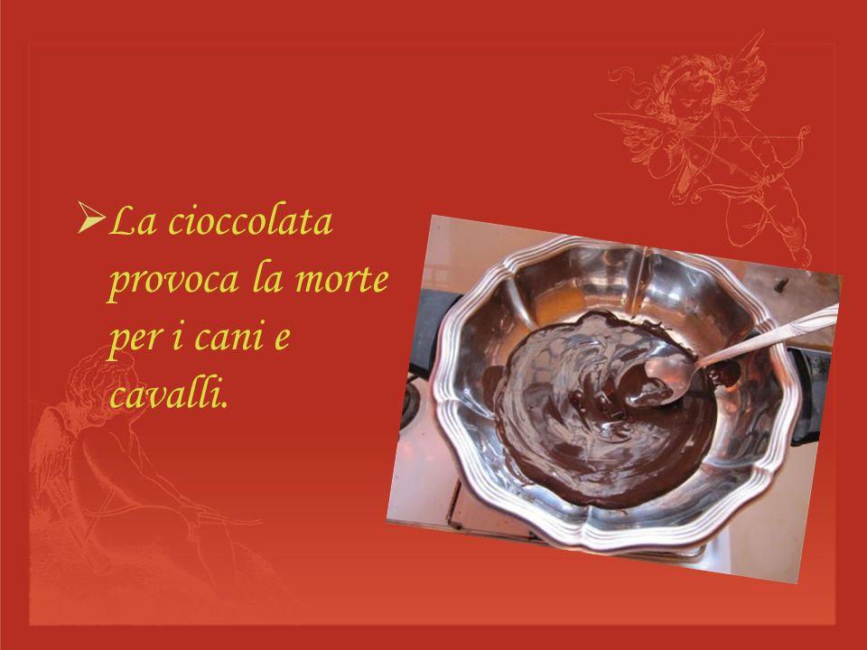 La cioccolata e usata come regalo durante le feste.