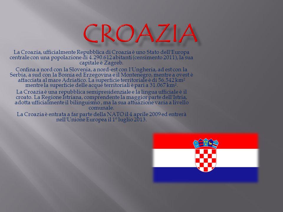 La Croazia, ufficialmente Repubblica di Croazia è uno Stato dell'Europa centrale con una popolazione di 4.290.612 abitanti (censimento 2011), la sua c