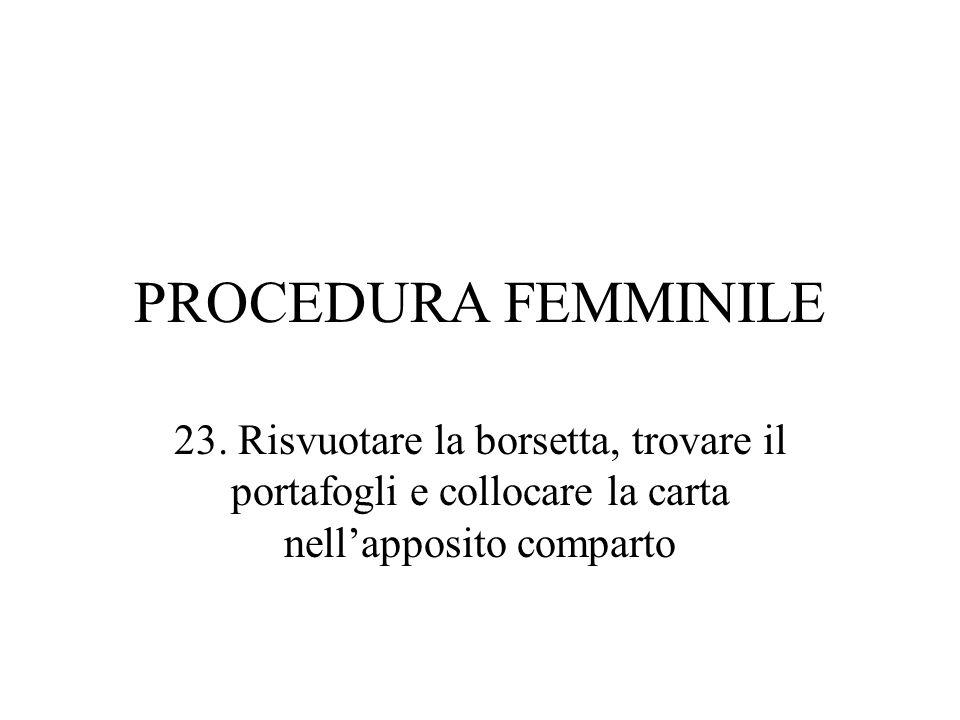 PROCEDURA FEMMINILE 23.