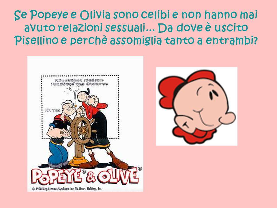 Se Popeye e Olivia sono celibi e non hanno mai avuto relazioni sessuali... Da dove è uscito Pisellino e perchè assomiglia tanto a entrambi?