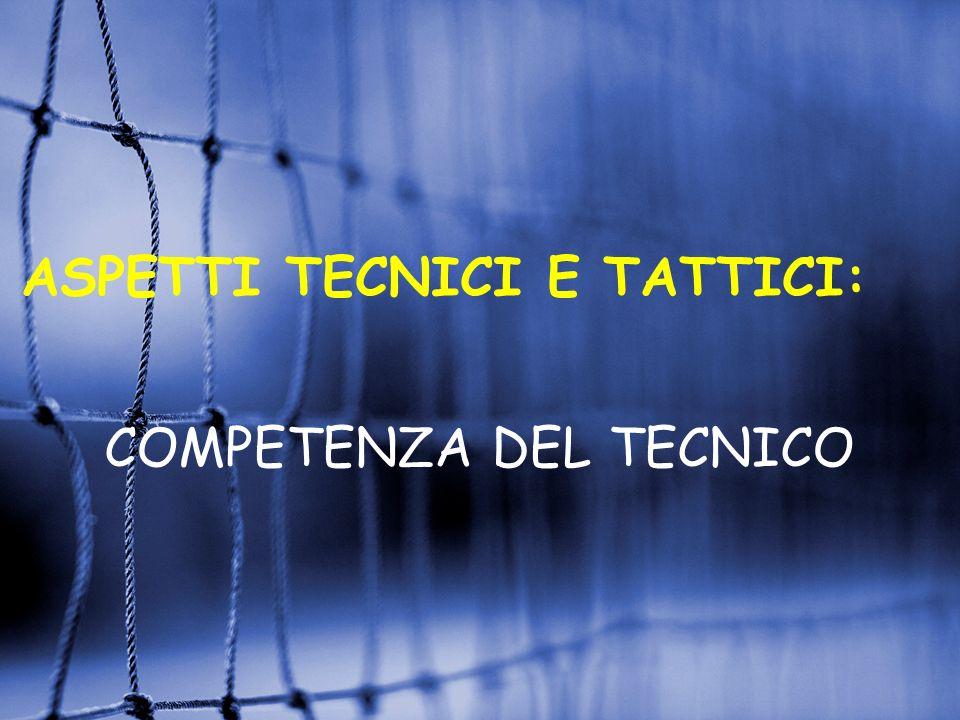 ASPETTI TECNICI E TATTICI: COMPETENZA DEL TECNICO
