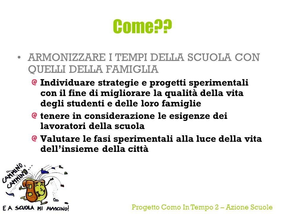Progetto Como In Tempo 2 – Azione Scuole Come .