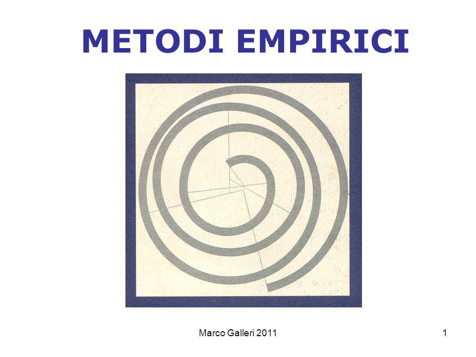 Marco Galleri 20111 METODI EMPIRICI