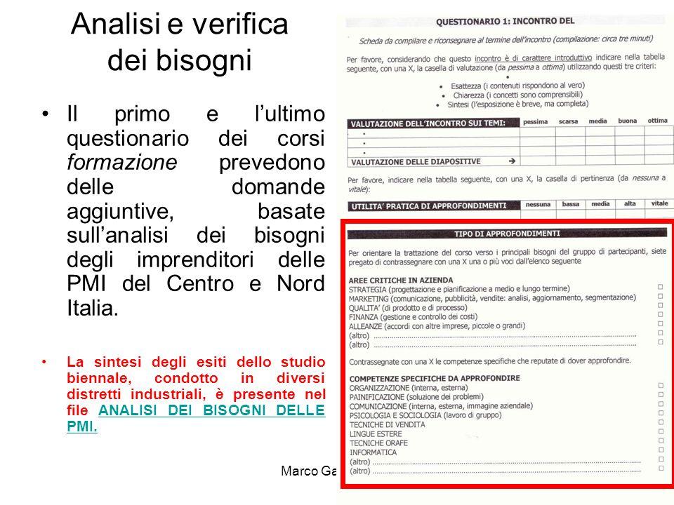 Marco Galleri 20105 GRADIMENTO Per misurare il gradimento del corso si considera che una valutazione media dei partecipanti equivalga a un gradimento perfettamente normale.