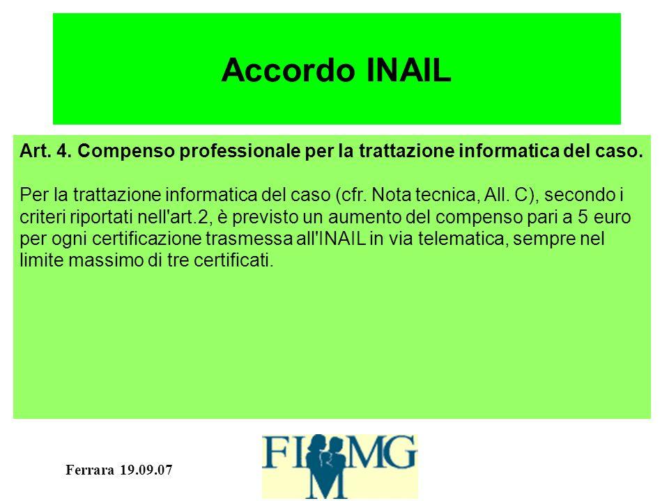 Ferrara 19.09.07 Accordo INAIL Art. 4.