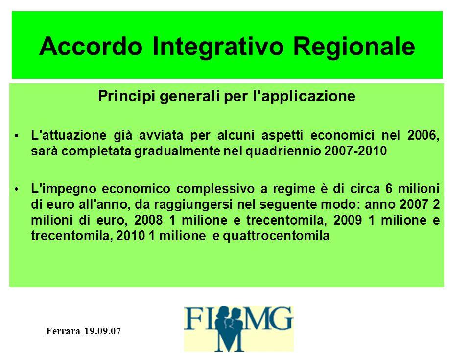 Ferrara 19.09.07 Accordo INAIL Art.7. Formazione.
