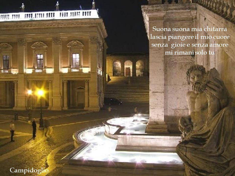 una muta fontana e una stella lassù o chitarra romana accompagnami tu. Esedra