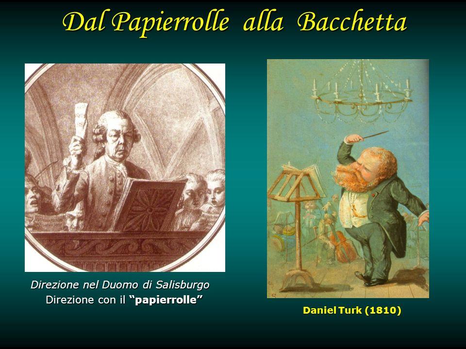 Dal Papierrolle alla Bacchetta Direzione nel Duomo di Salisburgo Direzione con il papierrolle Daniel Turk (1810)