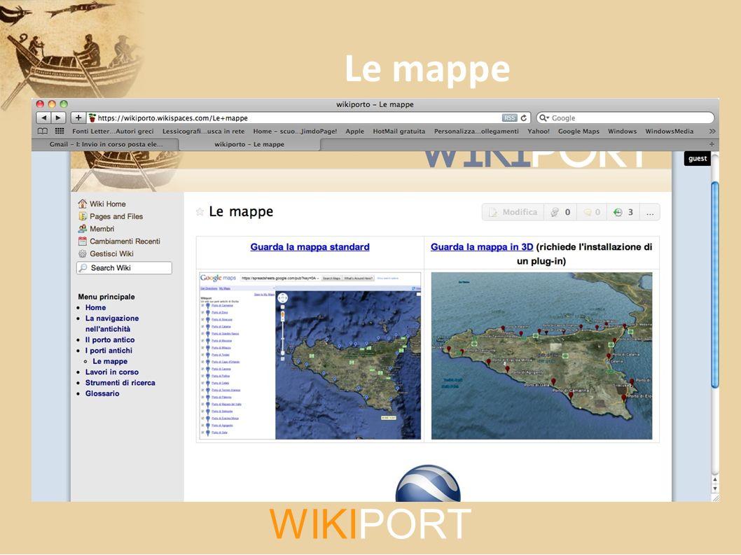 WIKIPORT Le mappe