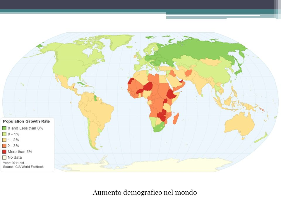 Aumento demografico nel mondo