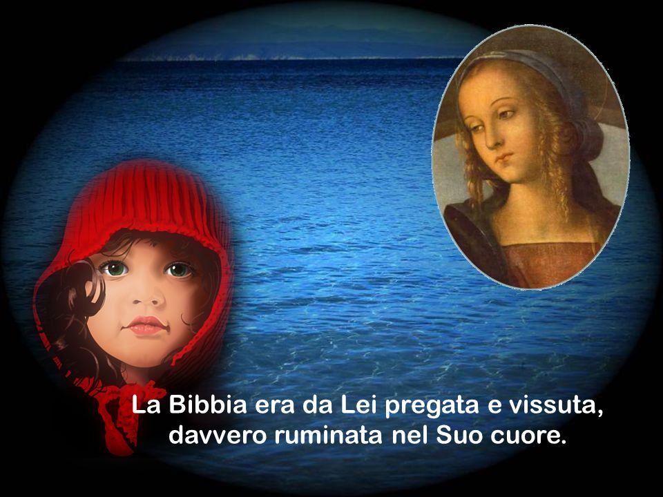 Maria realmente interiorizza la Parola e può, quindi, nuovamente, farne dono al mondo.
