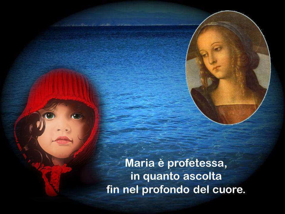 Fattasi totalmente ascolto, Maria accoglie la Parola così completamente, che, in Lei, diviene carne.