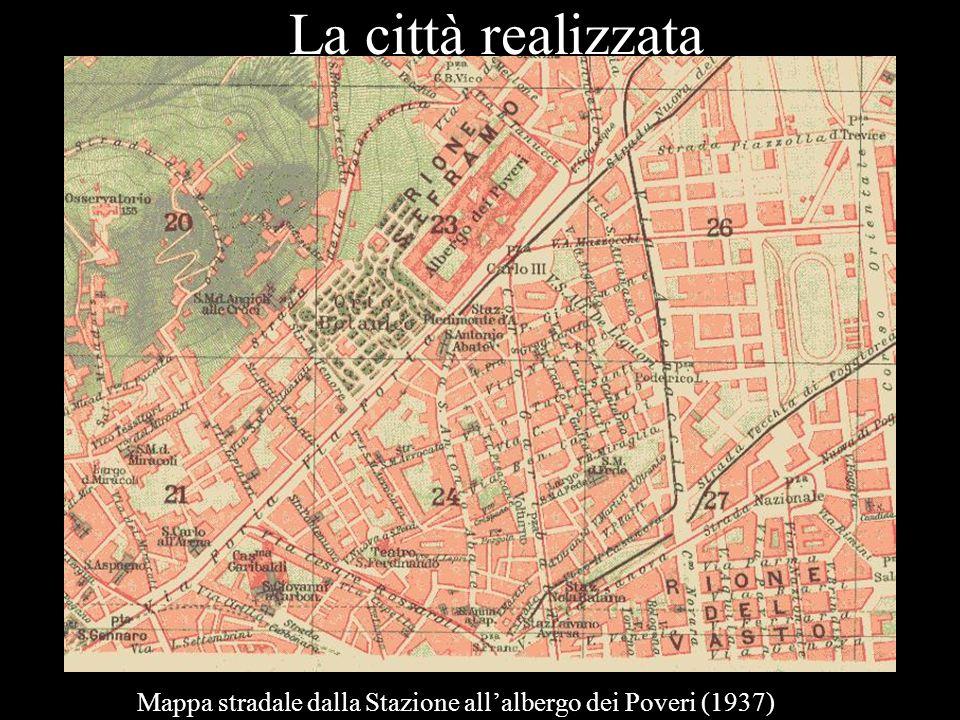 La città realizzata Mappa stradale dalla Stazione allalbergo dei Poveri (1937)