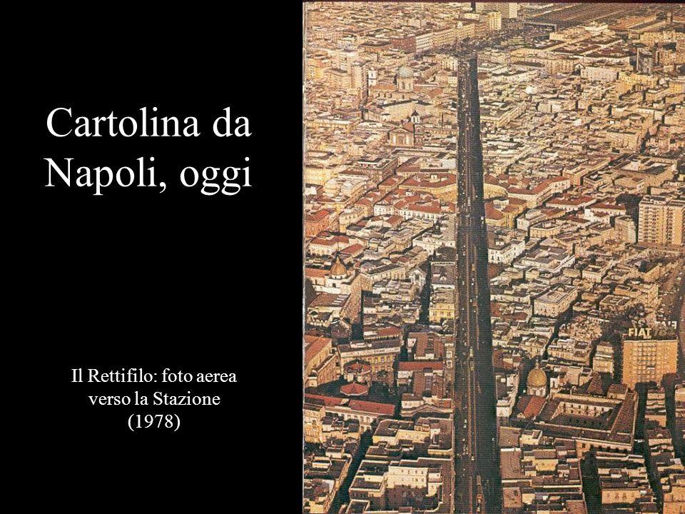 Cartolina da Napoli, oggi Il Rettifilo: foto aerea verso la Stazione (1978)
