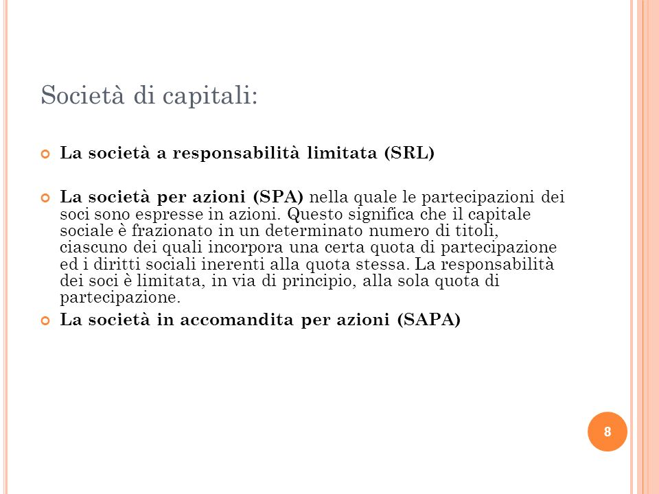 19 ANALISI DELLE OPERAZIONI In data 1/01/2011 i soci Bianchi e Rossi costituiscono una società di servizi, la Alfa s.n.c., conferendo capitale iniziale per 20.000, in contanti.