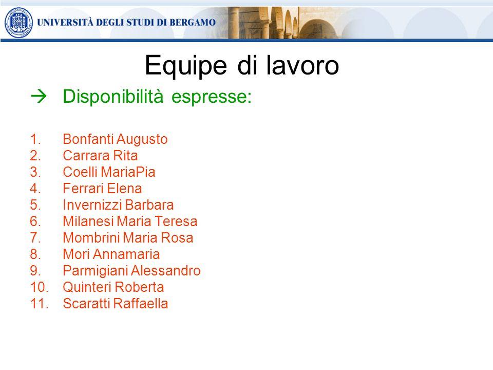 Referenti del CQIA per le Diocesi: BergamoBergamo – prof.ssa Giuliana Sandrone CremaCrema – dott.