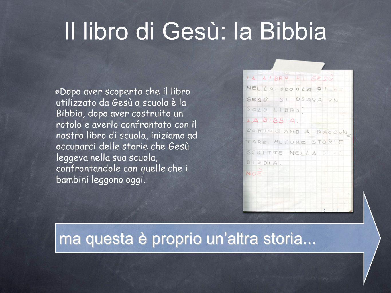 Il libro di Gesù: la Bibbia Dopo aver scoperto che il libro utilizzato da Gesù a scuola è la Bibbia, dopo aver costruito un rotolo e averlo confrontat